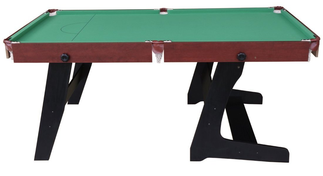hlc 6 green foldaway snooker pool table image