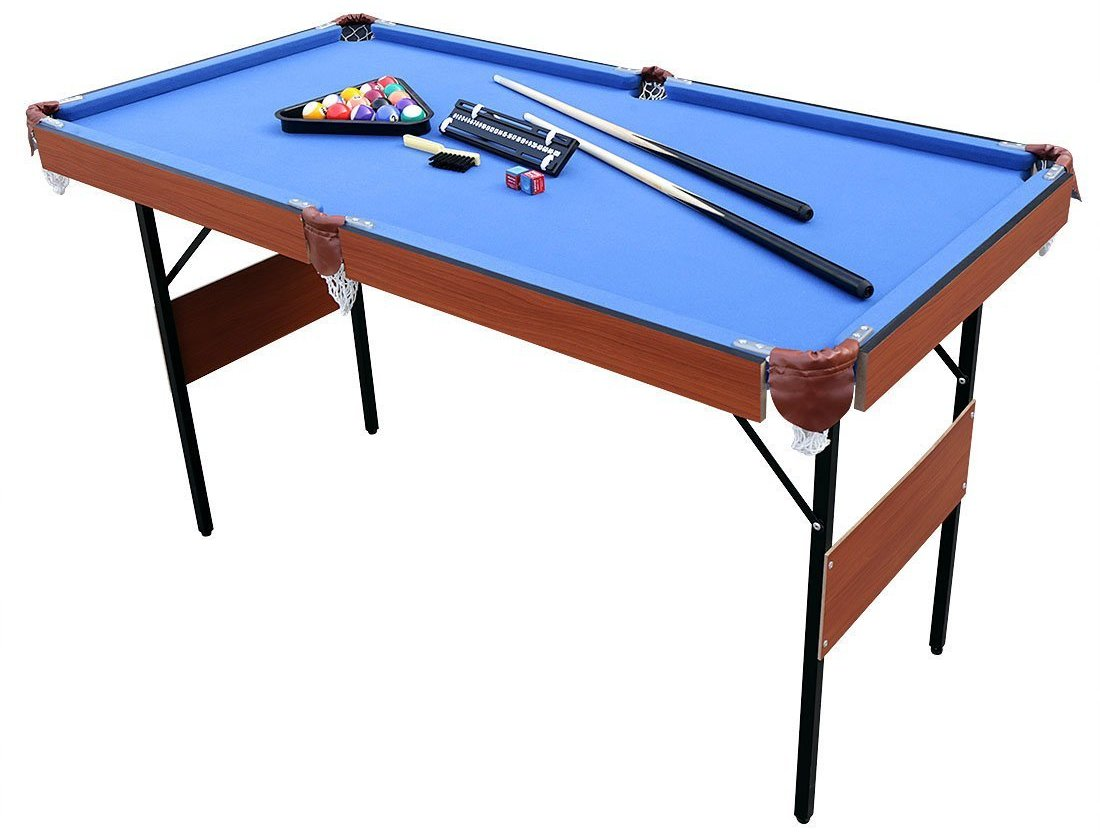 hlc 55 folding space saver pool billiard table image