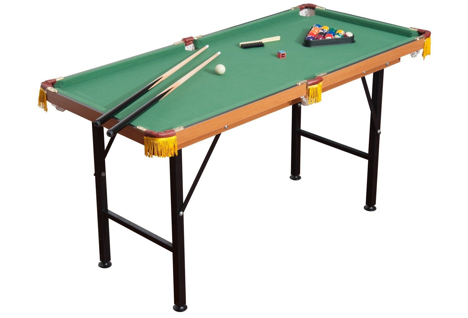 homcom folding miniature billiards pool table image