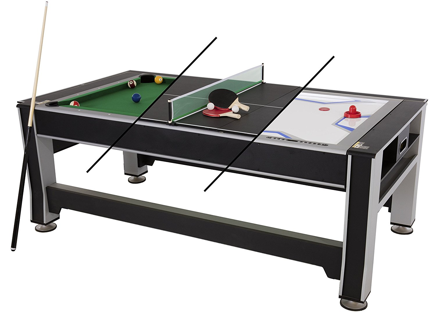 Triumph 3 In 1 Swivel Multigame Table Image
